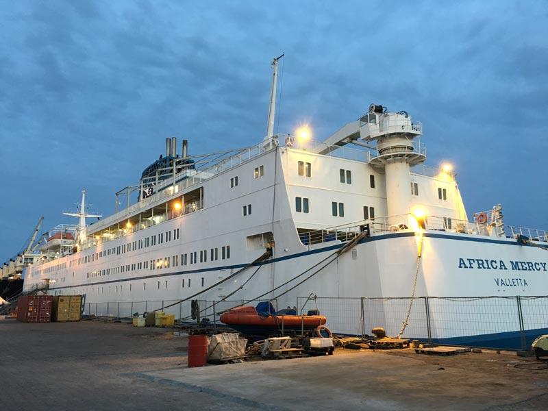 Einsatz Spitalschiff Africa Mercy