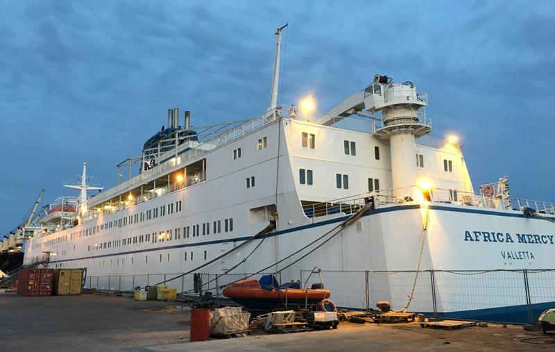 Auslandeinsatz auf dem Spitalschiff Africa Mercy